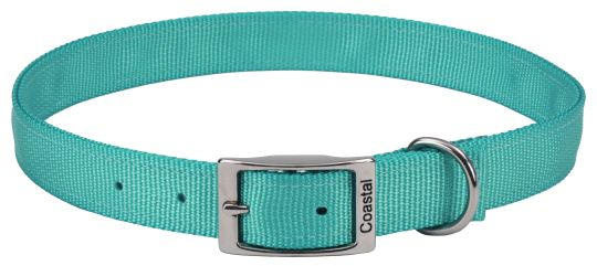 "Coastal Pet Double-ply Nylon Dog Collar Teal 18""L x 1""W - All Pets Store"