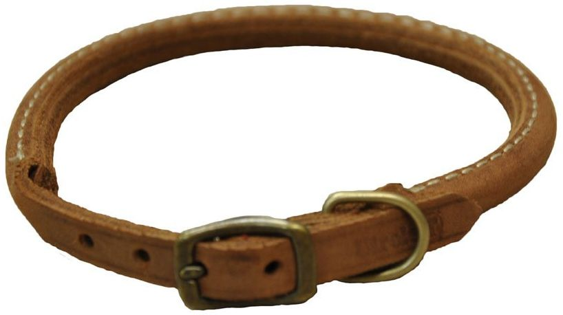 CircleT Rustic Leather Dog Collar Chocolate 10