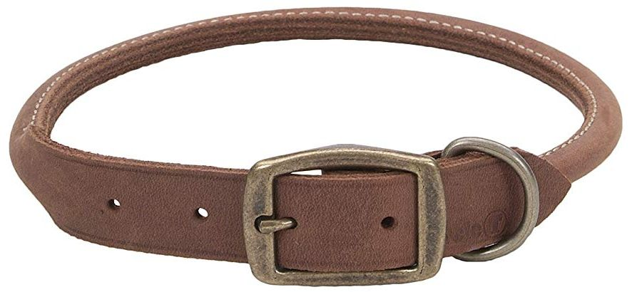 CircleT Rustic Leather Dog Collar Chocolate 20