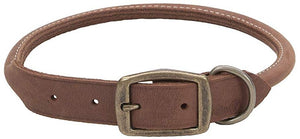 "CircleT Rustic Leather Dog Collar Chocolate 22""L x 1""W - All Pets Store"