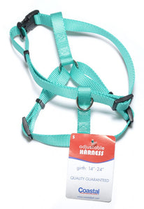 "Coastal Pet Teal Nylon Adjustable Dog Harness 14-20""L x 5/8""W - All Pets Store"