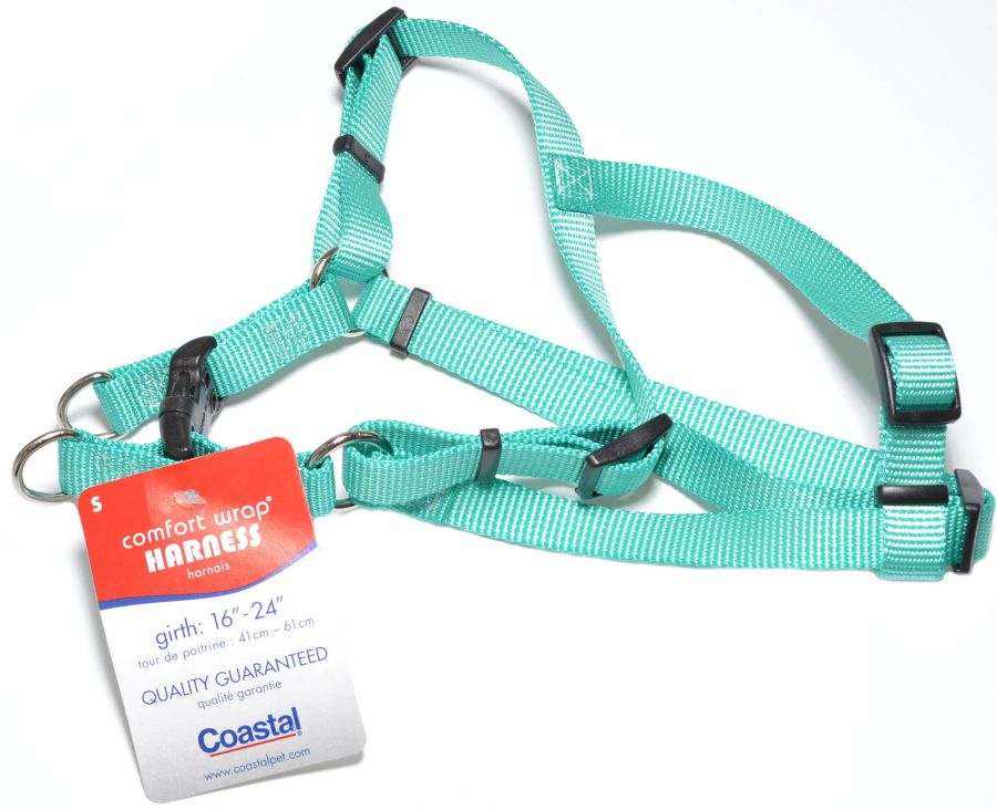 "Coastal Pet Teal Nylon Comfort Wrap Dog Harness 16-26""L x 5/8""W - All Pets Store"