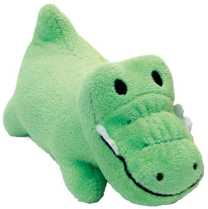 "Li'l Pals Ultra Soft Plush Gator Squeaker Toy 1 count (4.5""L) - All Pets Store"