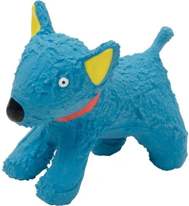 "L`il Pals Latex Blue Dog Toy 1 count (4.3""L) - All Pets Store"