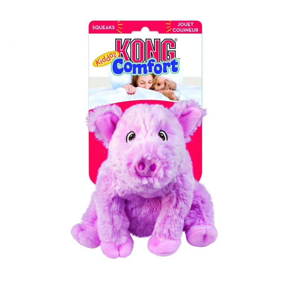 Kong Comfort Kiddos Pig Dog Toy Large 1 count - All Pets Store
