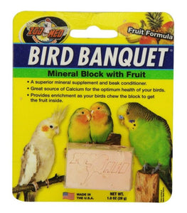 Zoo Med Bird Banquet Block Fruit Formula Small 1 count - All Pets Store