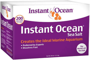 Instant Ocean Sea Salt for Marine Aquariums, Nitrate & Phosphate-Free 60 lbs (Treats 200 Gallons) - All Pets Store