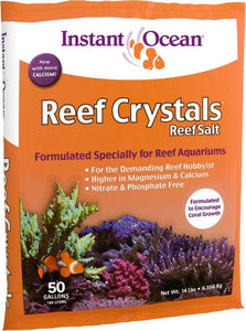 Instant Ocean Reef Crystals Reef Salt for Reef Aquariums 14 lbs (Treats 50 Gallons) - All Pets Store