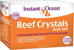 Instant Ocean Reef Crystals Reef Salt for Reef Aquariums 56 lbs (Treats 200 Gallons) - All Pets Store