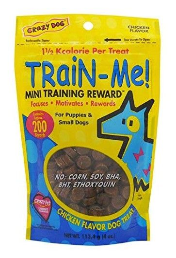Crazy Dog Train Me! Chicken Training Reward Treats - Mini 4 oz - All Pets Store
