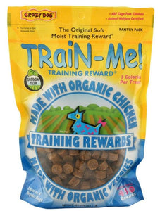 Crazy Dog Train Me! Organic Chicken Training Reward Treats - Regular 16 oz - All Pets Store