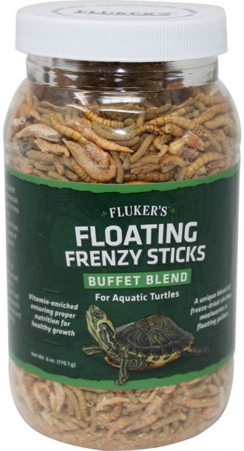 Flukers Floating Frenzy Buffet Blend for Aquatic Turtles 6 oz