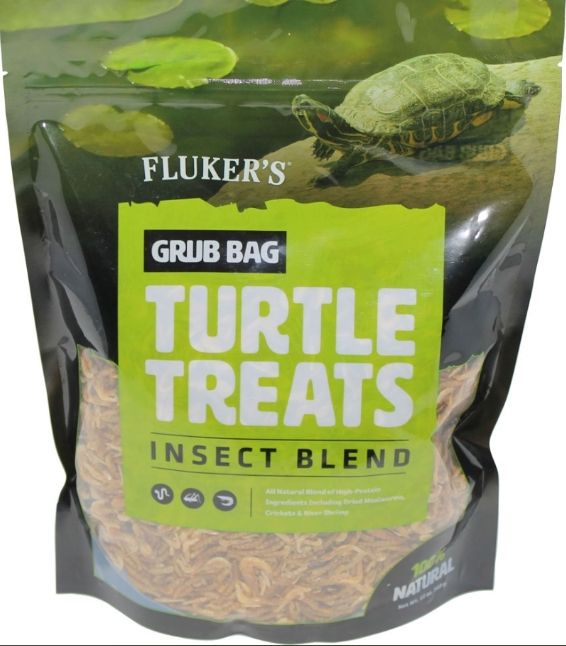 Flukers Grub Bag Turtle Treat - Insect Blend 12 oz