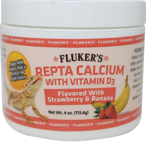 Flukers Strawberry Banana Flavored Repta Calcium 2 oz - All Pets Store