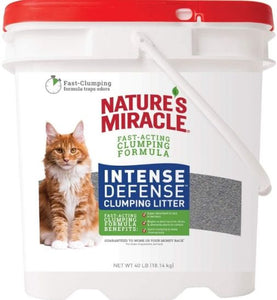 Natures Miracle Intense Defense Clumping Litter 40 lbs - All Pets Store