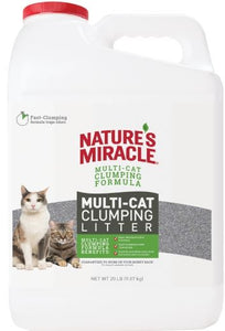 Natures Miracle Multi-Cat Clumping Clay Litter 20 lbs - All Pets Store
