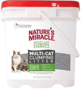 Natures Miracle Multi-Cat Clumping Clay Litter 40 lbs - All Pets Store