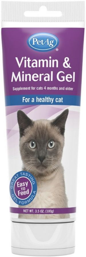 PetAg Vitamin & Mineral Gel for Cats 3.5 oz - All Pets Store