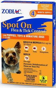 Zodiac Flea and Tick Control Drops 4 count - All Pets Store