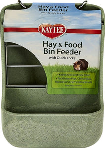 Kaytee Hay & Food Bin with Quick Locks Small Animal Feeder 1 count