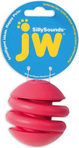 JW Pet SillySounds Spring Ball Dog Toy - Assorted Colors 1 count - Large - All Pets Store