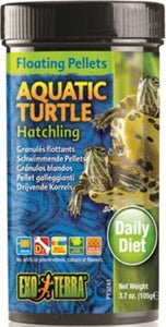 Exo Terra Floating Pellets Aquatic Turtle Hatchling Food 3.7 oz - All Pets Store