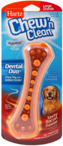 Hartz Chew N Clean Dental Duo - Bacon Large - 1 count - All Pets Store