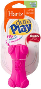 Hartz Dura Play Bacon Scented Dental Dog Bone Chew Toy - Assorted Colors Small - 1 count - All Pets Store