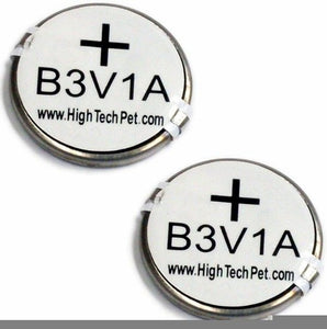 High Tech Pet Replacement B-3V1A Battery 2-Pack for HTP Collars 2 count
