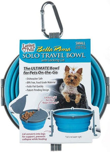Loving Pets Bella Roma Blue Travel Bowl  1 count - Small - All Pets Store