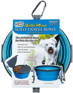 Loving Pets Bella Roma Blue Travel Bowl  1 count - Medium - All Pets Store