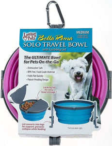 Loving Pets Bella Roma Pink Travel Bowl  1 count - Medium - All Pets Store