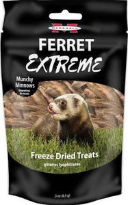 Marshall Ferret Extreme Munchy Minnows Freeze Dried Ferret Treat .3 oz - All Pets Store