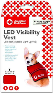 Penn-Plax American Red Cross Light Up Safety Visibility Vest Small - All Pets Store