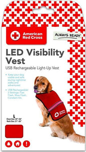 Penn-Plax American Red Cross Light Up Safety Visibility Vest Large - All Pets Store