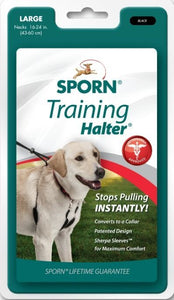 Sporn Original Training Halter for Dogs - Black Large - All Pets Store