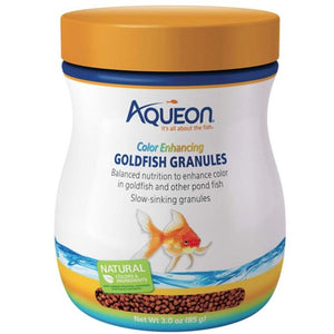 Aqueon Color Enhancing Goldfish Granules 3 oz - All Pets Store