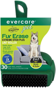 Evercare Pet Fur Erase Extreme Stick Plus Lint Roller 30 count - All Pets Store