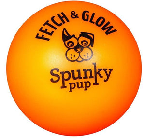 Spunky Pup Fetch and Glow Ball Dog Toy Assorted Colors Medium - 1 count - All Pets Store