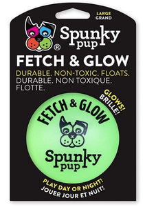 Spunky Pup Fetch and Glow Ball Dog Toy Assorted Colors Large - 1 count - All Pets Store
