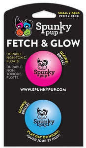 Spunky Pup Fetch and Glow Balls Dog Toy Small - 2 count - All Pets Store