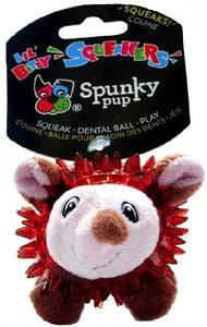 Spunky Pup Lil Bitty Squeakers Hedgehog Dog Toy 1 count