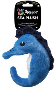 Spunky Pup Sea Plush Seahorse Dog Toy Medium - 1 count