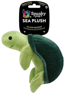 Spunky Pup Sea Plush Turtle Dog Toy Medium - 1 count