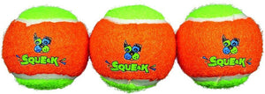 Spunky Pup Squeak Tennis Balls Dog Toy Small - 3 count - All Pets Store