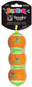 Spunky Pup Squeak Tennis Balls Dog Toy Medium - 3 count - All Pets Store