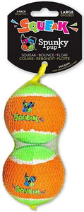 Spunky Pup Squeak Tennis Balls Dog Toy Large - 2 count - All Pets Store