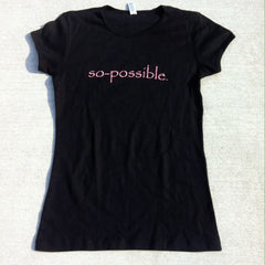 women's so-possible t-shirt (black)