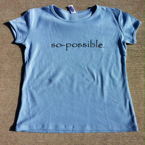 women's so-possible t-shirt (light blue)