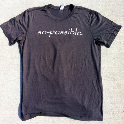 men's so-possible t-shirt (charcoal)